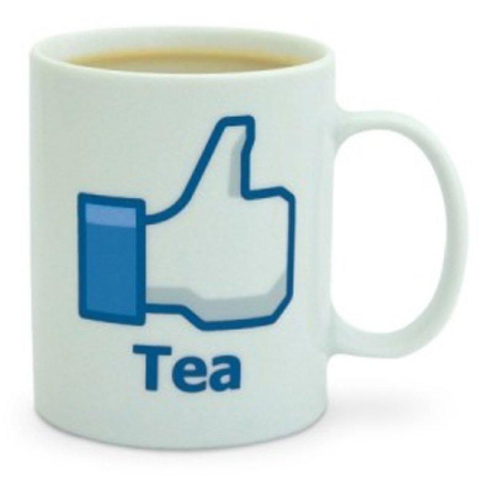 Mug personnalisé avec un like de Facebook